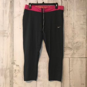 Nike Dri-Fit Running Capris XL Pink and Grey